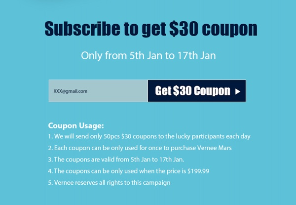 coupon reduction vernee mars-infoidevice