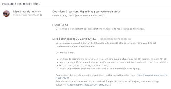mise a jour macos sierra 10.12.3-infoidevice