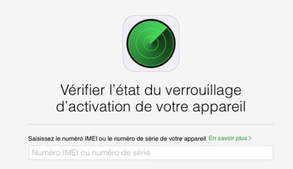 verification verrouillage action icloud-infoidevice