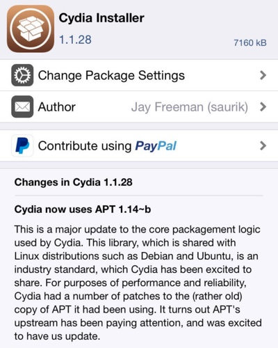 cydia installer 1.1.28-infoidevice