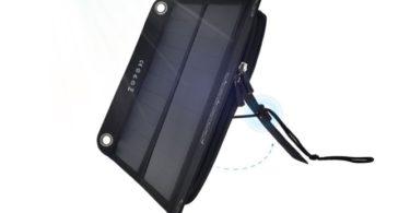 dodocool chargeur panneau pliable solaire USB 12W 10000mah powerport