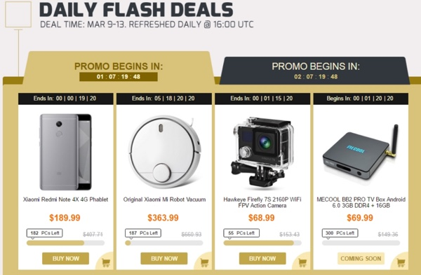 daily flash deals gearbest