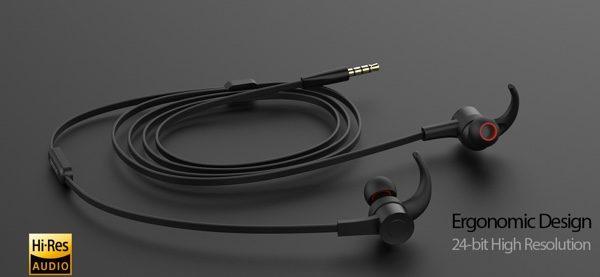 Écouteurs intra-auriculaires Hi-Res 24bit avec télécommande et micro