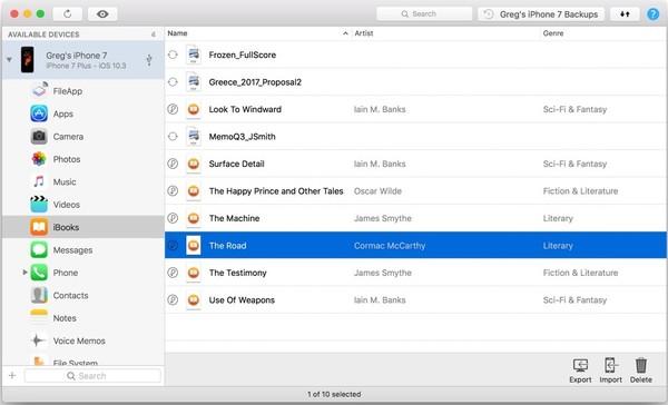 imazing transfere ibooks infoidevice