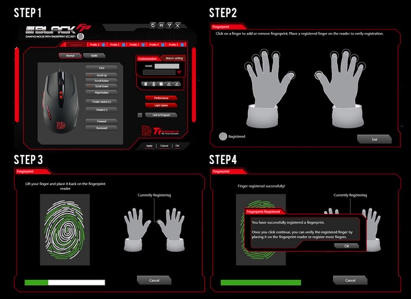 reglage scanner empreintes souris ttesports black fp infoidevice