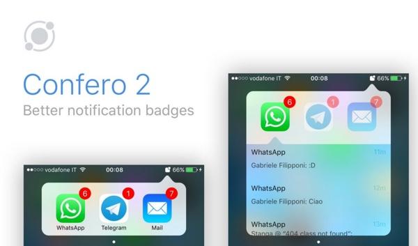 confero 2 gestionnaire de badges de notifications ios 10 infoidevice