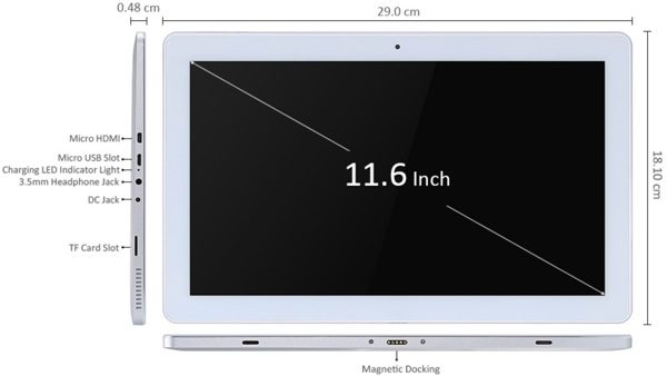 dimensions teclast tbook 16 pro infoidevice