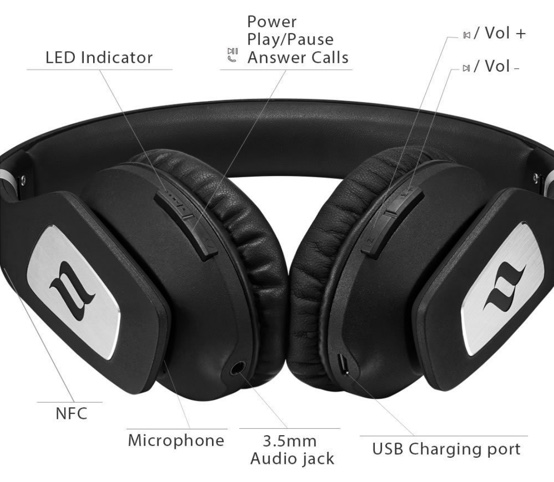 fonctions casque noontec zoro 2 wireless volcanic rock edition limitee infoidevice