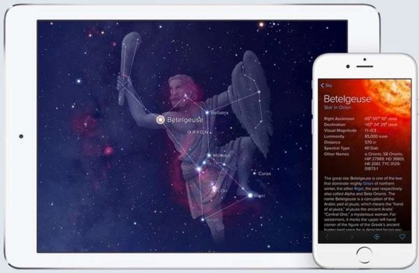 sky guide application carte des etoiles infoidevice