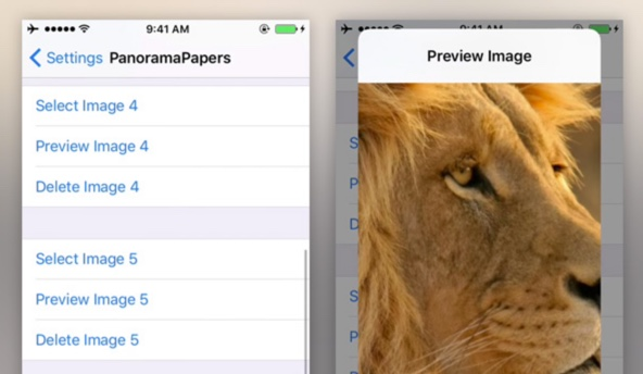tweak PanoramaPapers cydia infoidevice