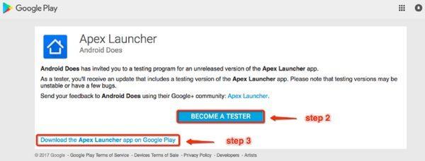 devenir testeur apex launcher infoidevice