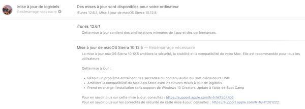 mise a jour macos 10.12.5 et itunes 12.6.1 infoidevice