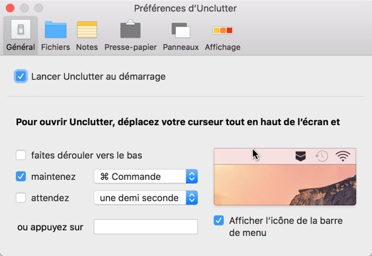 d sencombrez le bureau de votre mac avec l application unclutter info idevice. Black Bedroom Furniture Sets. Home Design Ideas