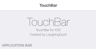tweak touchbar application bar pour iphone infoidevice