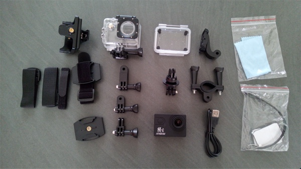 accessoires camera action andoer 4k infoidevice