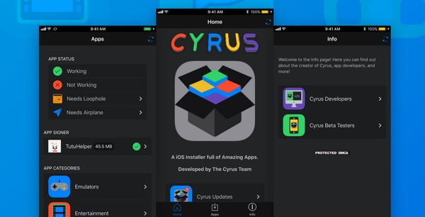applications gratuites cyrus installer infoidevice