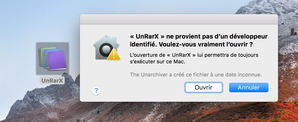 forcer ouverture application non identifiee macos infoidevice