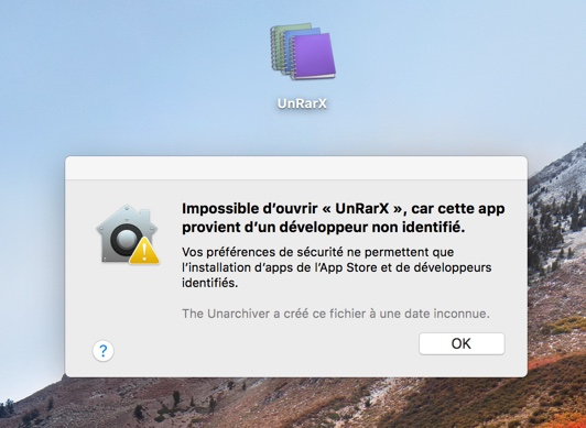 impossible ouvrir application non identifiee macos infoidevice