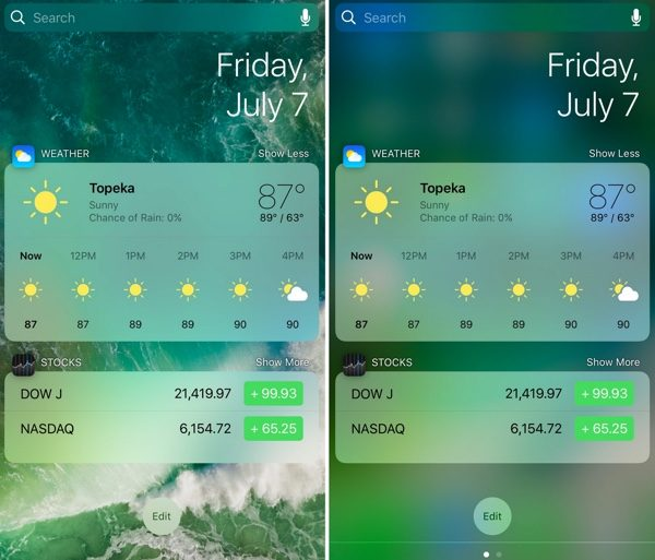 tweak modern modifie widgets ios infoidevice