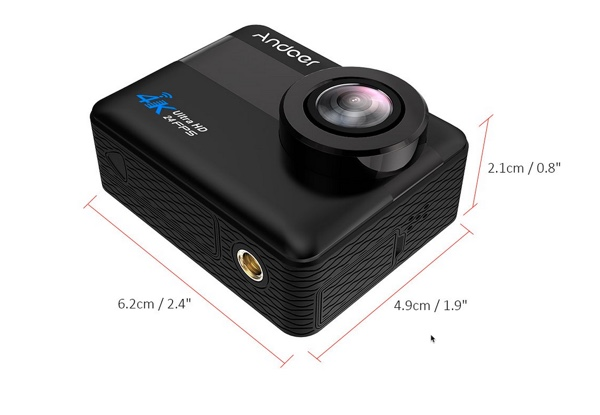dimensions camera action andoer an1 infoidevice