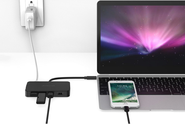 recharger macbook hub usb dodocool dc47 infoidevice