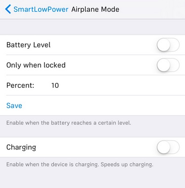 smartlowpower option airplane mode infoidevice