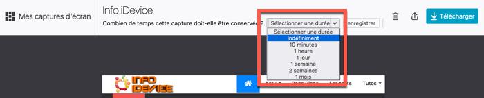 enregistrer capture ecran avec firefox 56 infoidevice
