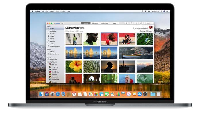 nouvelle app photos macos high sierra infoidevice