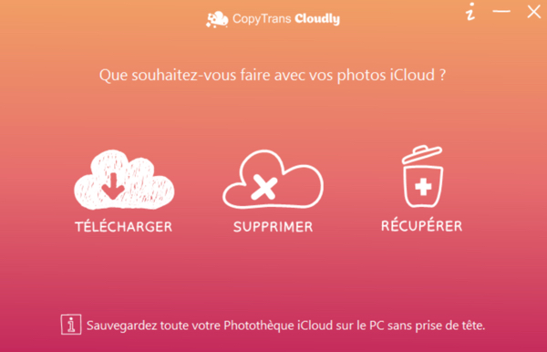 telecharger ou supprimer les photos icloud avec copytrans cloudy infoidevice