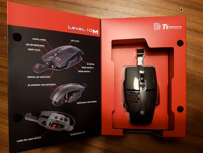boite souris gamer thermaltake tt esports level 10m hybrid infoidevice