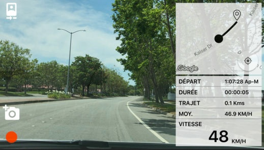 dashcam 2 pour iphone