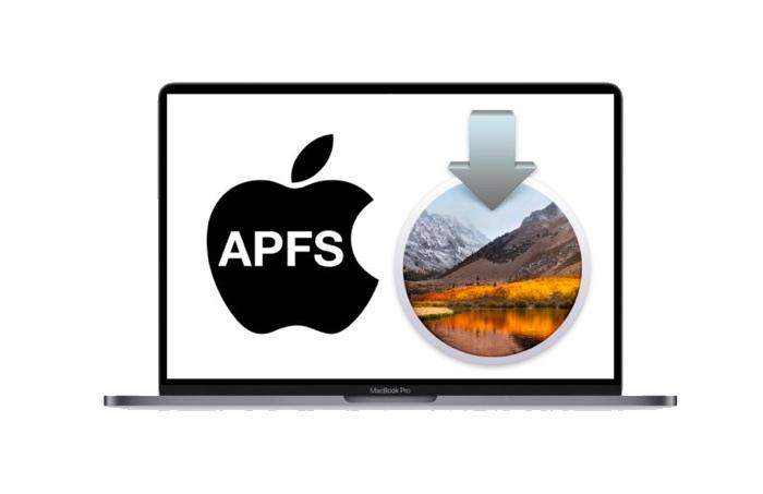 eviter de convertir fichier hfs+ en apfs installation macos high sierra