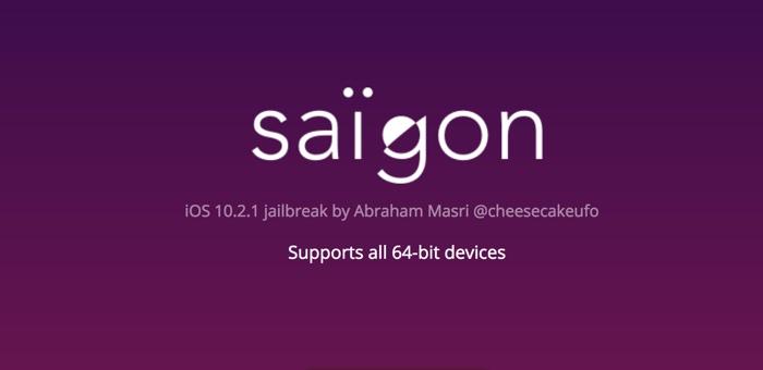 jailbreak ios 10.2.1 saigon iphone ipad 64 bit