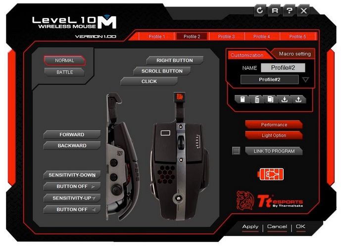 logiciel pour souris gamer thermaltake tt esports level 10m hybrid infoidevice
