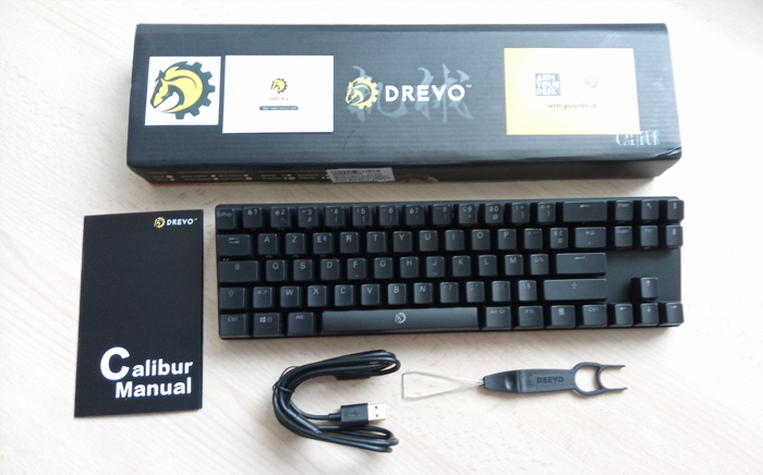 package test clavier bluetooth drevo calibur 72 rgb backlit