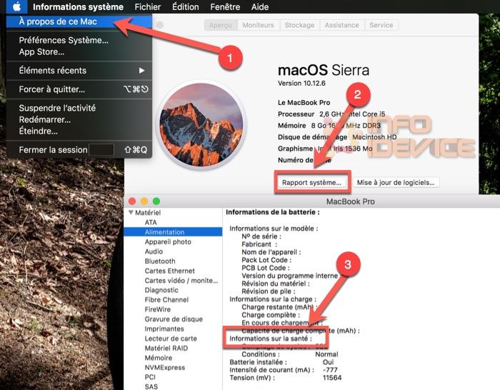 programme remplacement batterie apple macbook pro