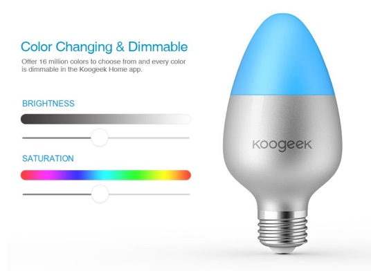 promotion lampe led wifi koogeek