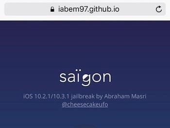 saigon jailbreak ios 10.3.1 infoidevice