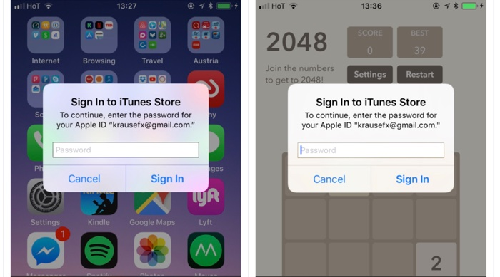 tentative phishing identifiant apple sur iphone