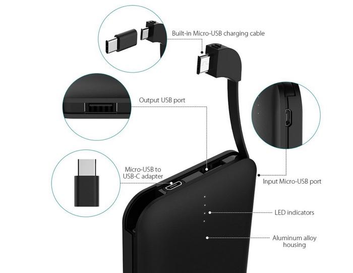 test powerbank chargeur batterie externe dodocool