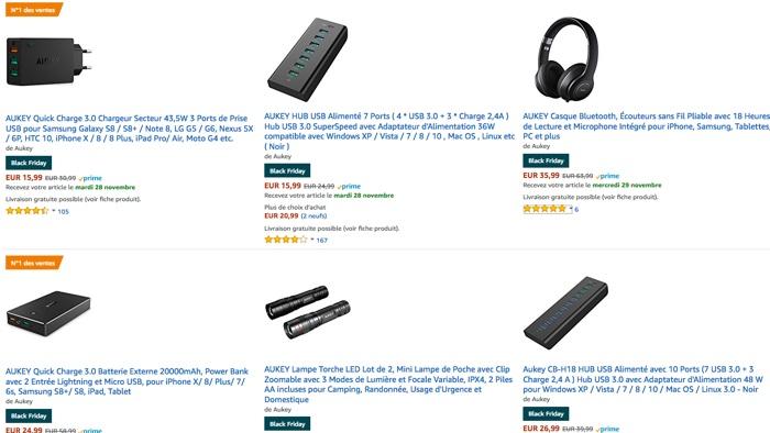 black friday aukey batterie externe hub multi usb casque et enceinte. Black Bedroom Furniture Sets. Home Design Ideas