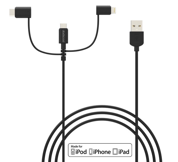 cable dodocool compatible iphone et smartphone android