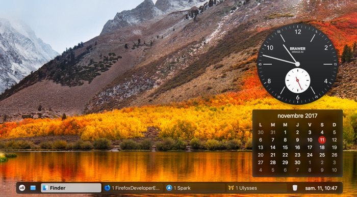 ubar dock mac alternatif avec horloge