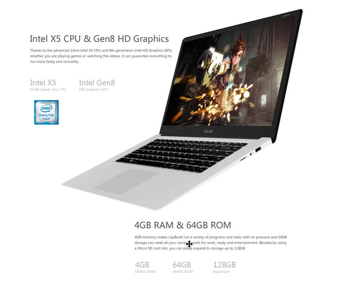 ultrabook chuwi lapbook pc ecran full hd