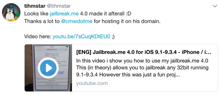 jailbreak me 4.0 disponible