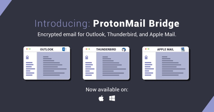 protonmail bridge compatible outlook mail thunderbird