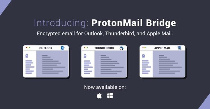 protonmail bridge compatible outlook mail thunderbird