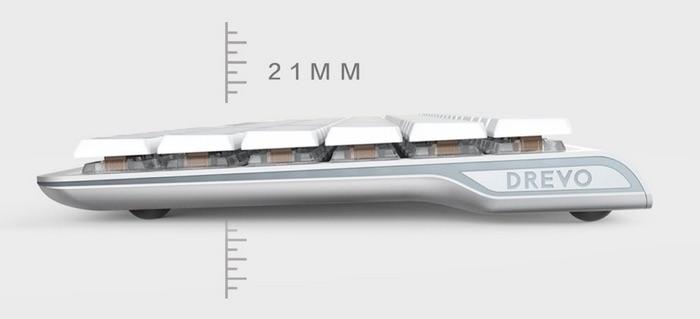 test clavier mac drevo joyeuse bluetooth retroeclairage