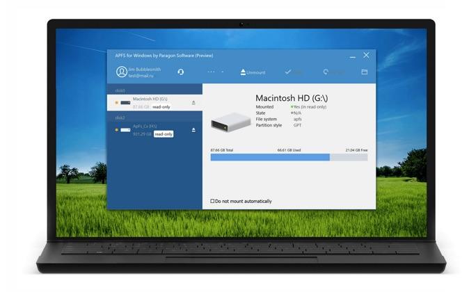utilitaire paragon gratuit fichiers apfs mac