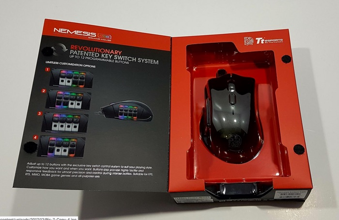 deballage souris gamer tt esports nemesis switch rgb